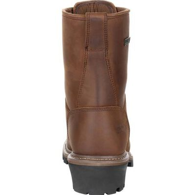 Rocky Square Toe Logger Waterproof Work Boot, , large