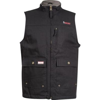 Rocky WorkSmart Men's Canvas Vest, , large