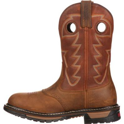 Rocky Original Ride Branson Saddle Roper Western Boot, , large