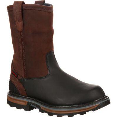 Rocky Elements Block Steel Toe Waterproof Pull-On Work Boot, , large