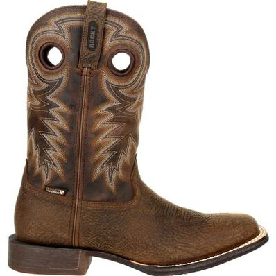 Rocky Dakota Ridge Waterproof Pull-On Western Boot, , large