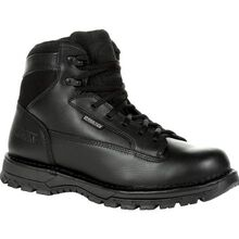 "Rocky Portland 6"" Black Side Zip Waterproof Public Service Boot"