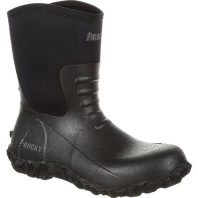 Rocky Core Chore Black Rubber Outdoor Boot, , large