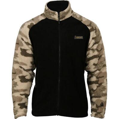 Rocky Full Zip Fleece Jacket, Black/Rocky Venator WW2, large