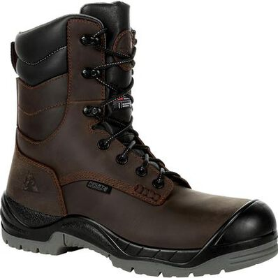 Rocky Worksmart 8 Inch 400G Insulated Composite Toe Waterproof Work Boot, , large