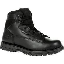"""Rocky Women's Portland 6"""" Black Side Zip Waterproof Public Service Boot"""