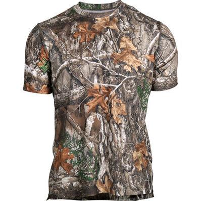 Rocky Camo Short-Sleeve Performance Tee Shirt, Realtree Edge, large