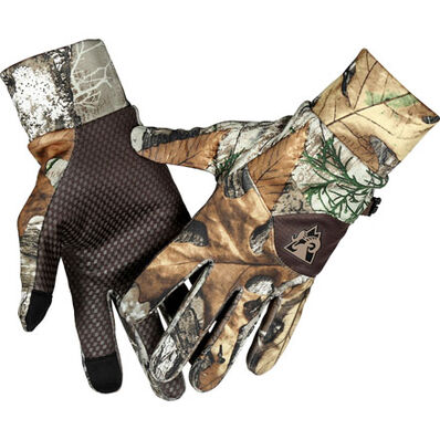Rocky Women's Moisture Wicking Camo Gloves, Realtree Edge, large