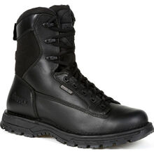 "Rocky Portland 8"" Black Side Zip Waterproof Public Service Boot"