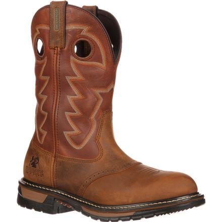 Rocky Original Ride Branson Saddle Roper Western Boot, , large