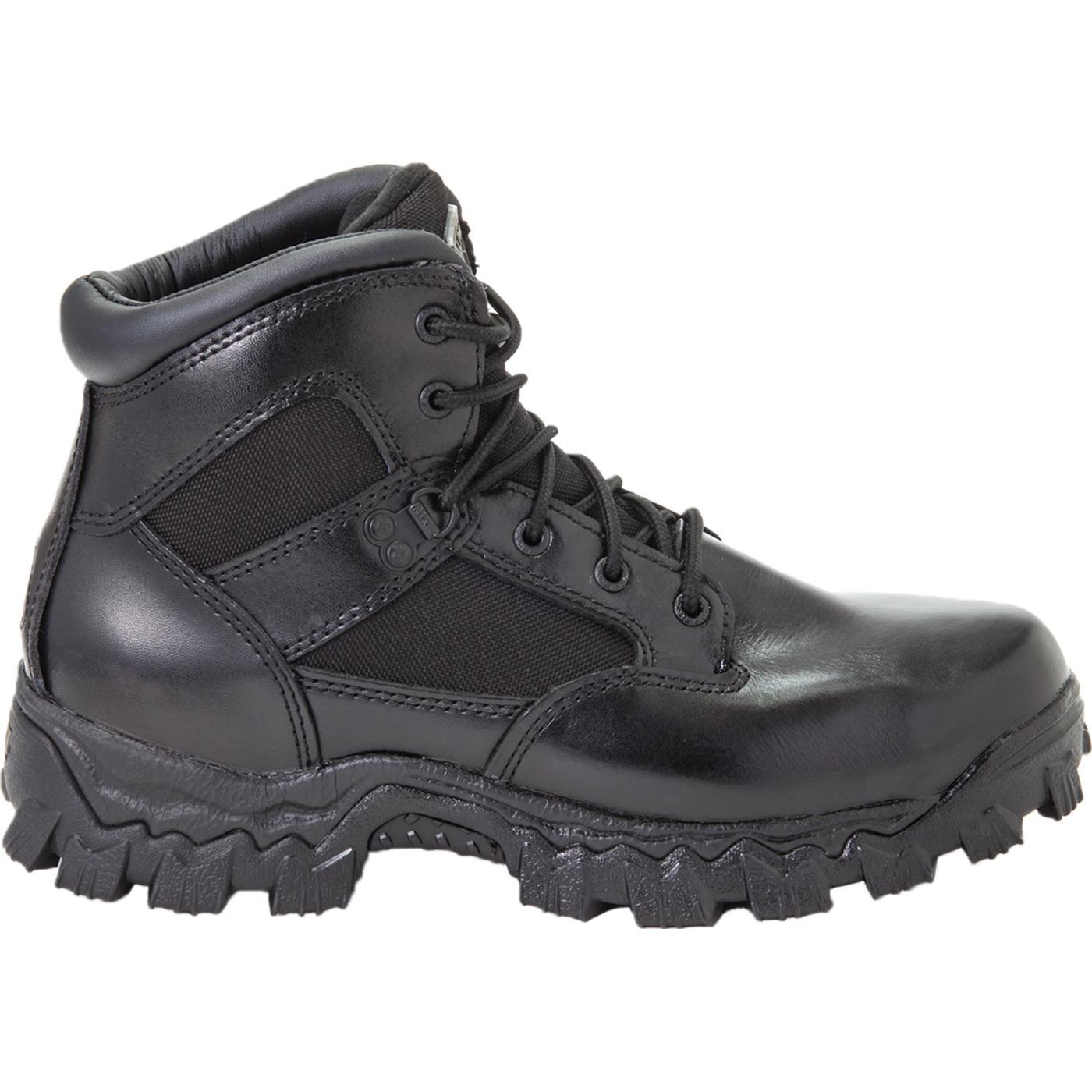Rocky AlphaForce Safety Toe Black Waterproof Duty Boot, FQ0006168