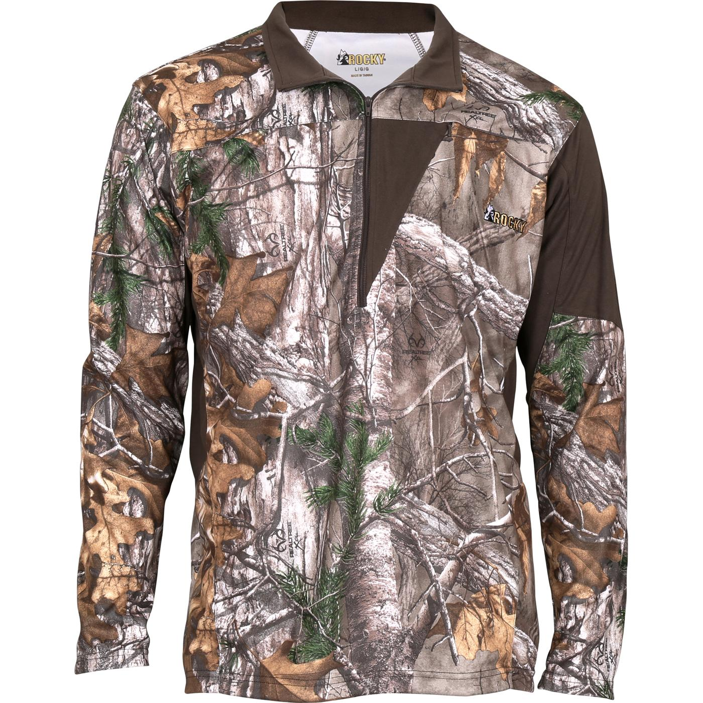 8db3b4713d43c Rocky SilentHunter men's 1/4 zip camouflage shirt, 600546