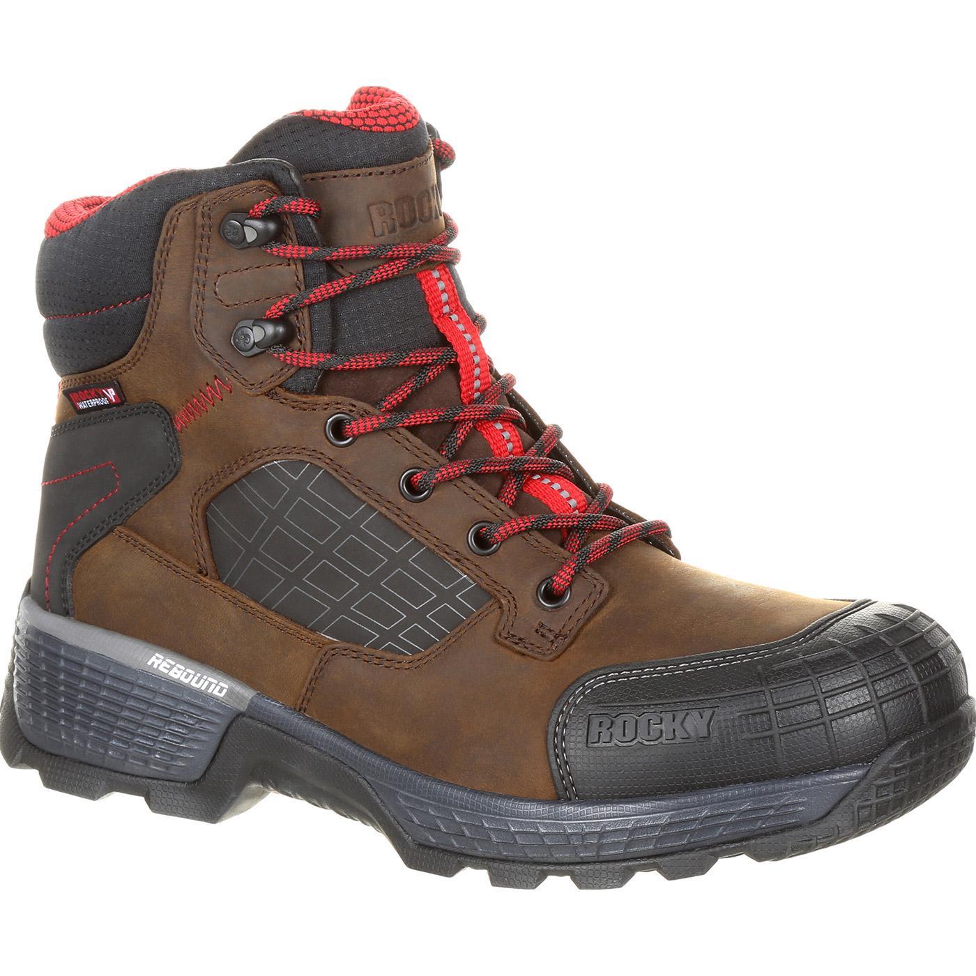 Rocky Treadflex Men S Composite Toe Waterproof Work Boots