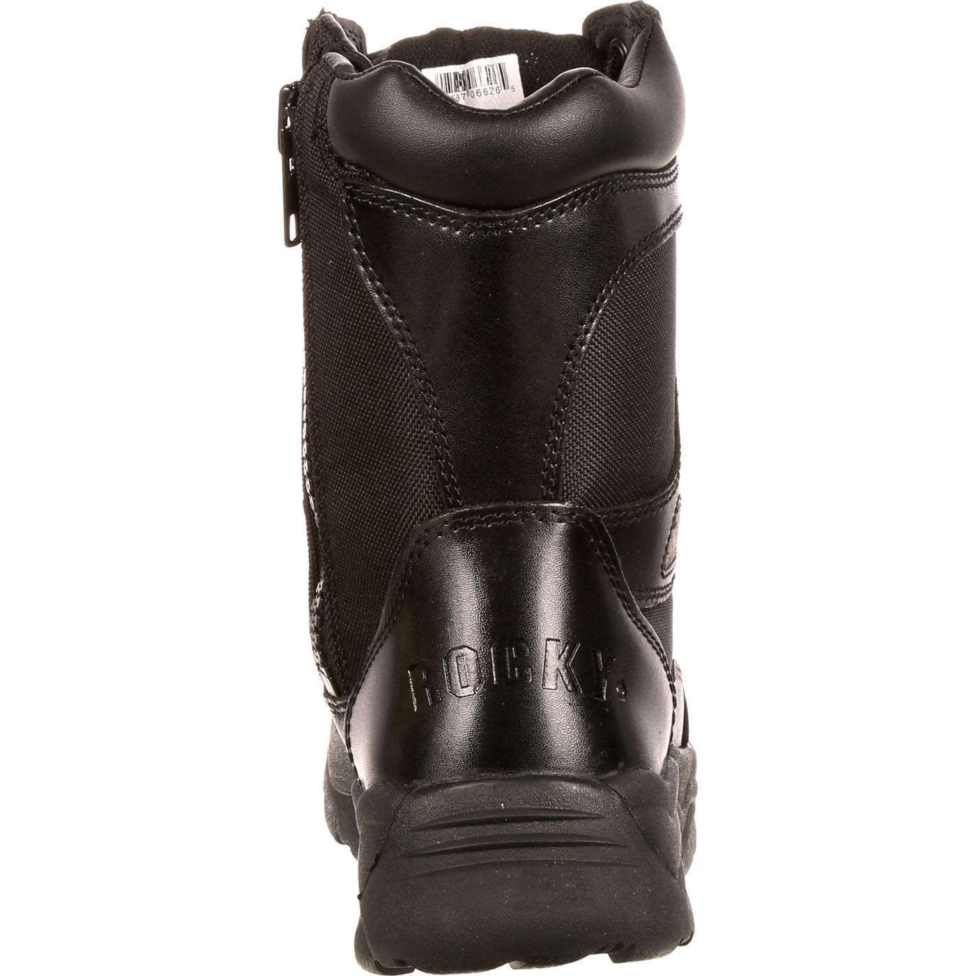 de988a7ba4e Rocky Fort Hood Zipper Waterproof Public Service Boot