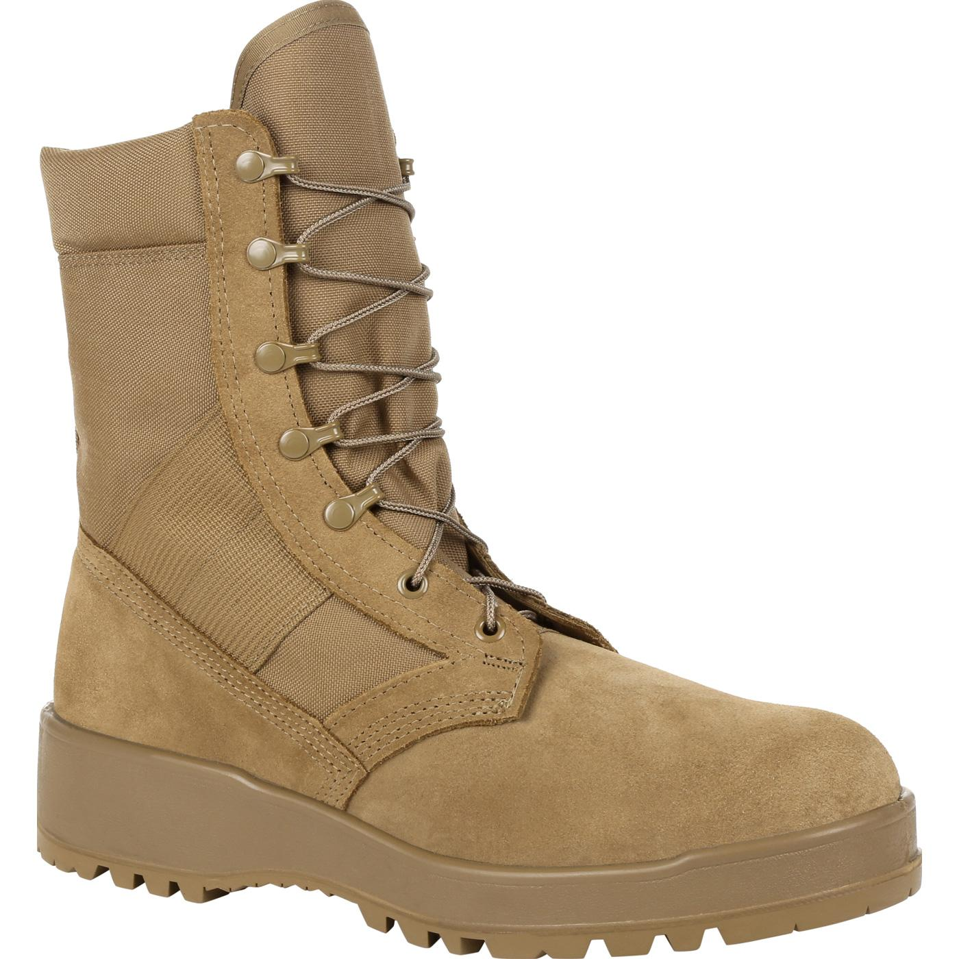 Rocky Entry Level Hot Weather Coyote Brown Military Boot RKC057 3afecc148