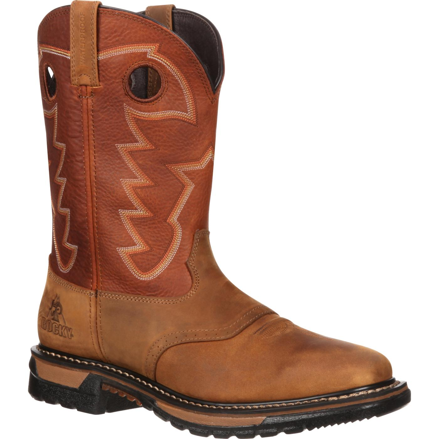 rocky original ride waterproof western boots rkyw039