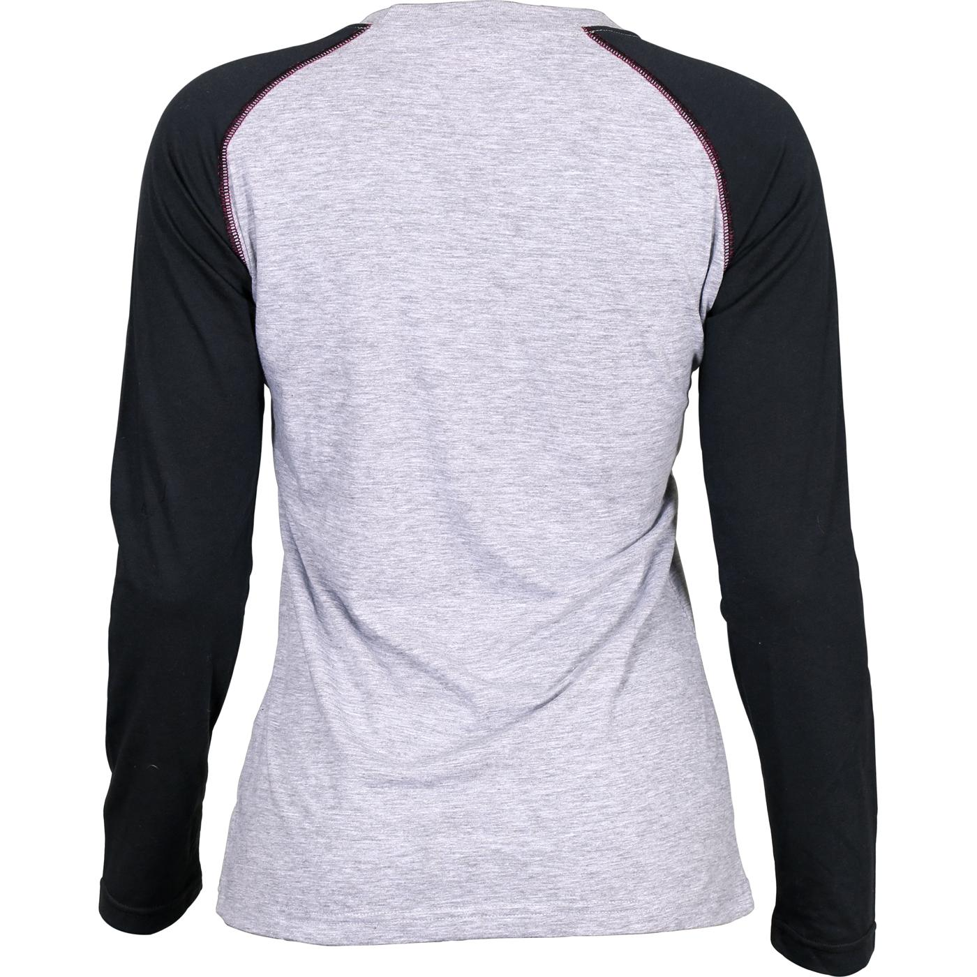 dc19b51c Rocky: Women's Logo Gray Black Long-Sleeve Raglan T-Shirt