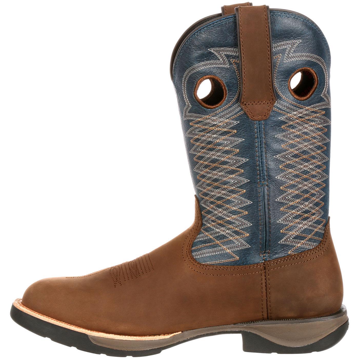 Rocky LT: Men's Comfortable Lightweight Blue Western Boot