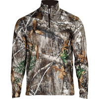 Rocky Camo Fleece Zip Shirt, Realtree Edge, medium