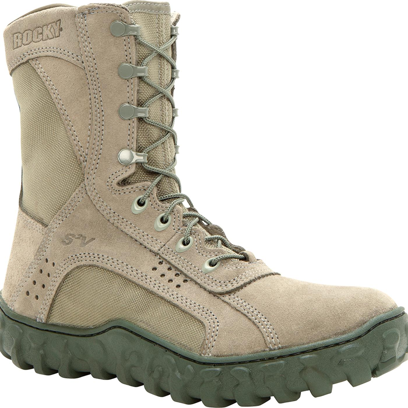Sage Green Steel Toe Rocky S2V Military Boot, #FQ0006108