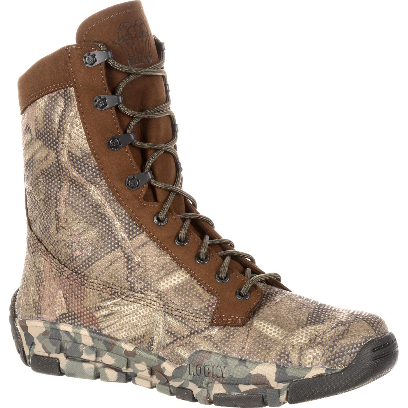 best service 7798e 1b9bf Rocky Camo Hunting Boot
