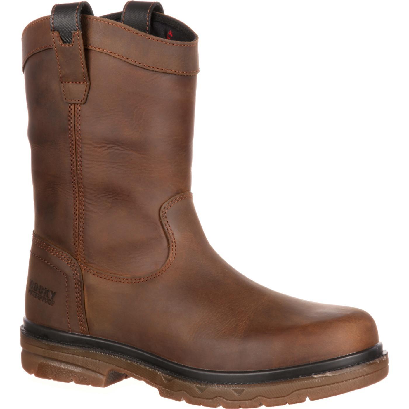 ccd58f13fc5 Rocky Elements Shale Steel Toe Waterproof Wellington Work Boot