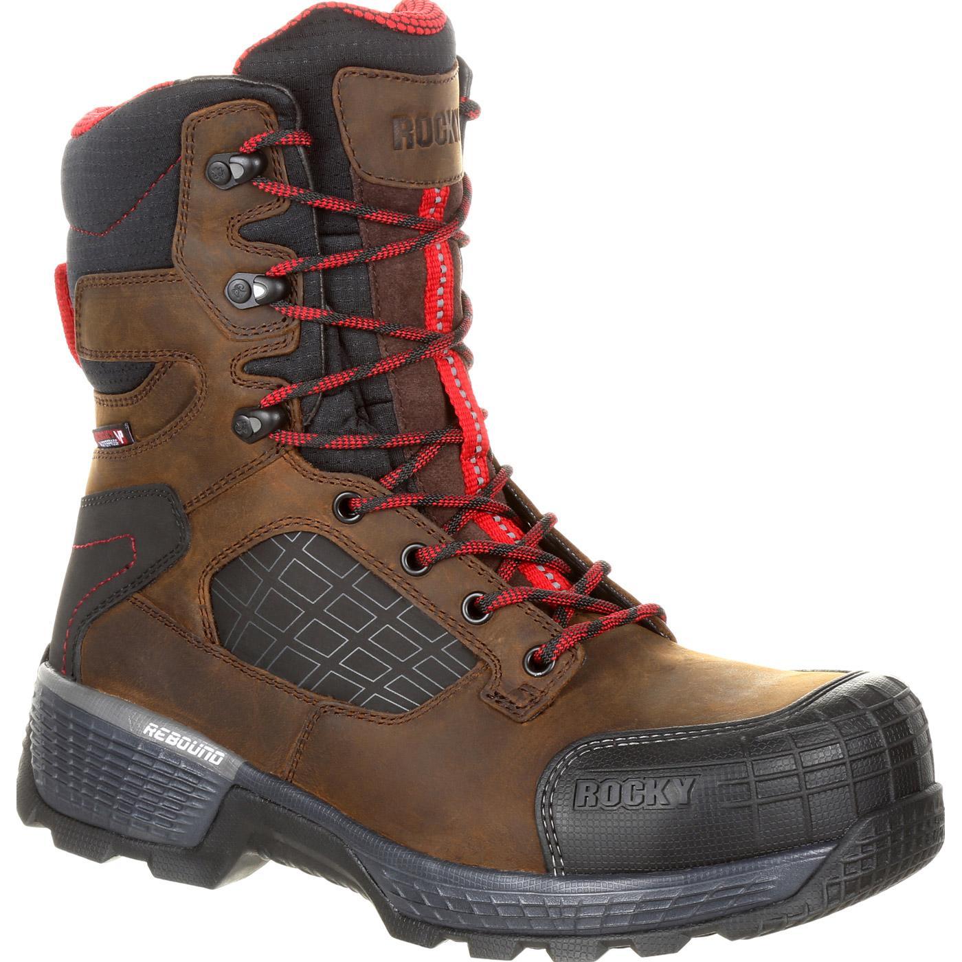 rocky treadflex s waterproof 8 quot work boots