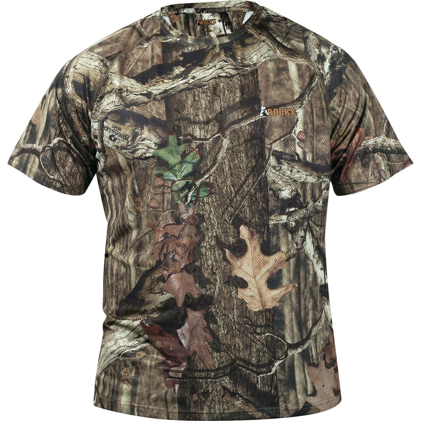 Short LightMen's Rocky Camouflage Arid Sleeve T Shirt K1JclTF