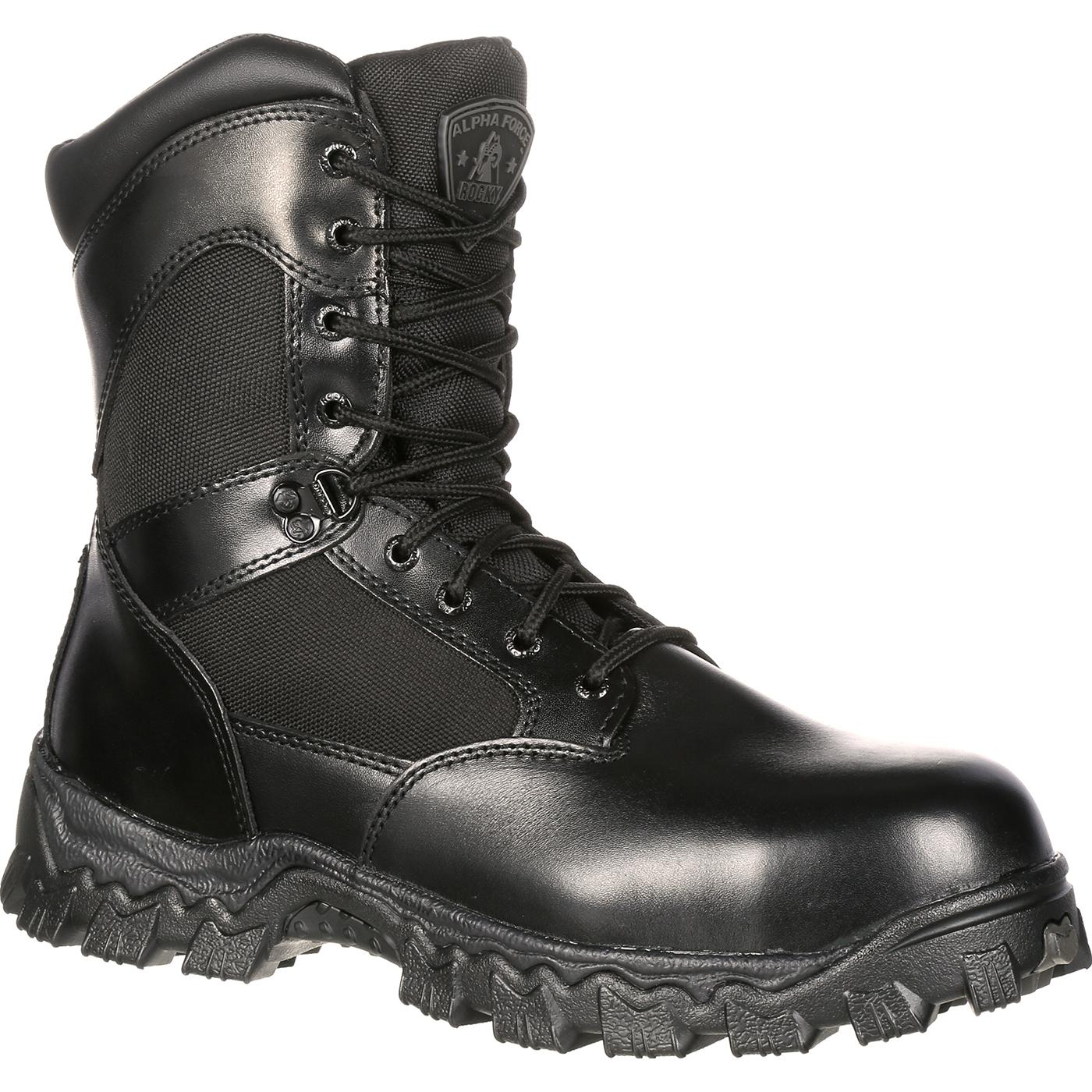 Fall/Winter Mens Rocky 6 AlphaForce Composite Toe Waterproof Boot Brown Full Grain Leather/Nylon Mens Brown Full Grain Leather/Nylon Rocky Mens Rocky