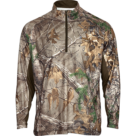 Rocky SilentHunter 1/2 Zip Scent IQ Shirt, Rltre Xtra, large