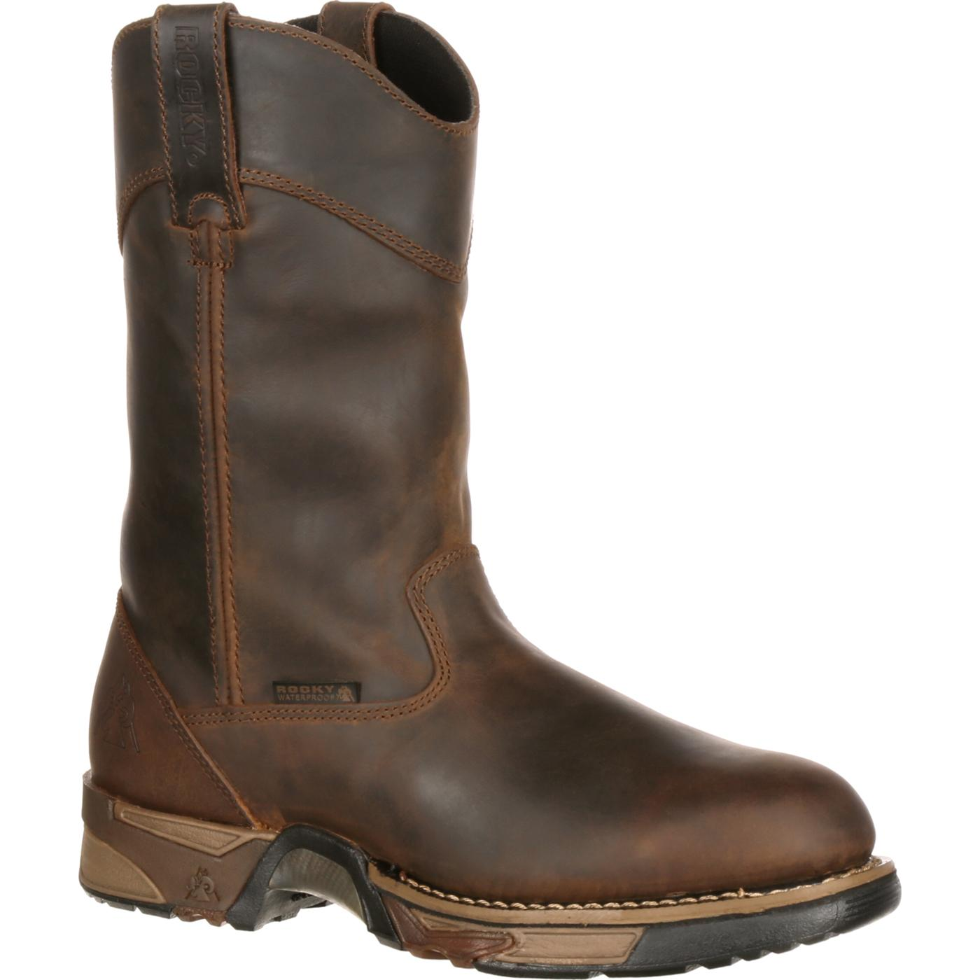 Rocky Men's Steel Toe Waterproof Pull-On Work Boot, #6639