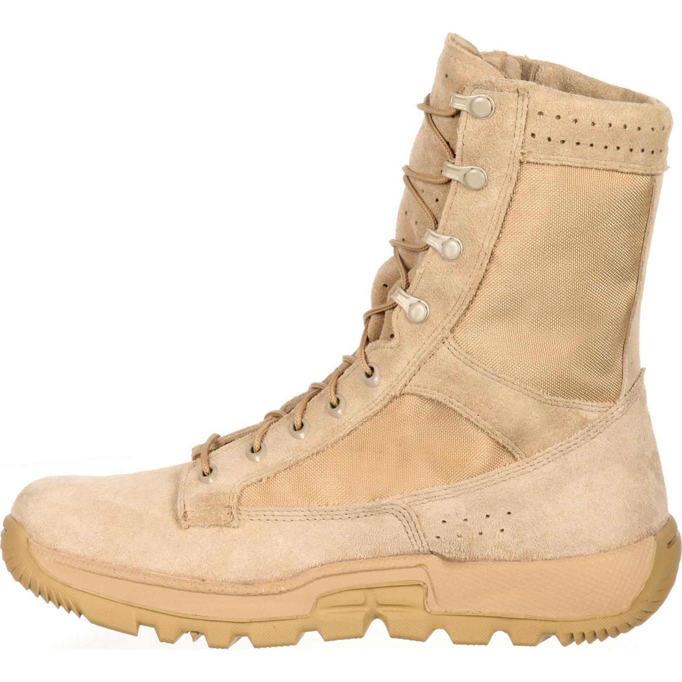 Rocky: Lightweight Desert Tan Commercial Military Boots