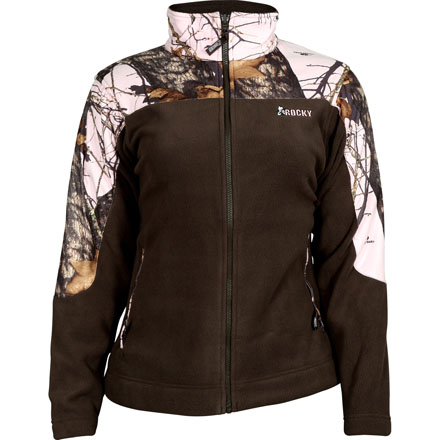 Rocky SilentHunter Women's Fleece Jacket, Mo Pink Camo, large
