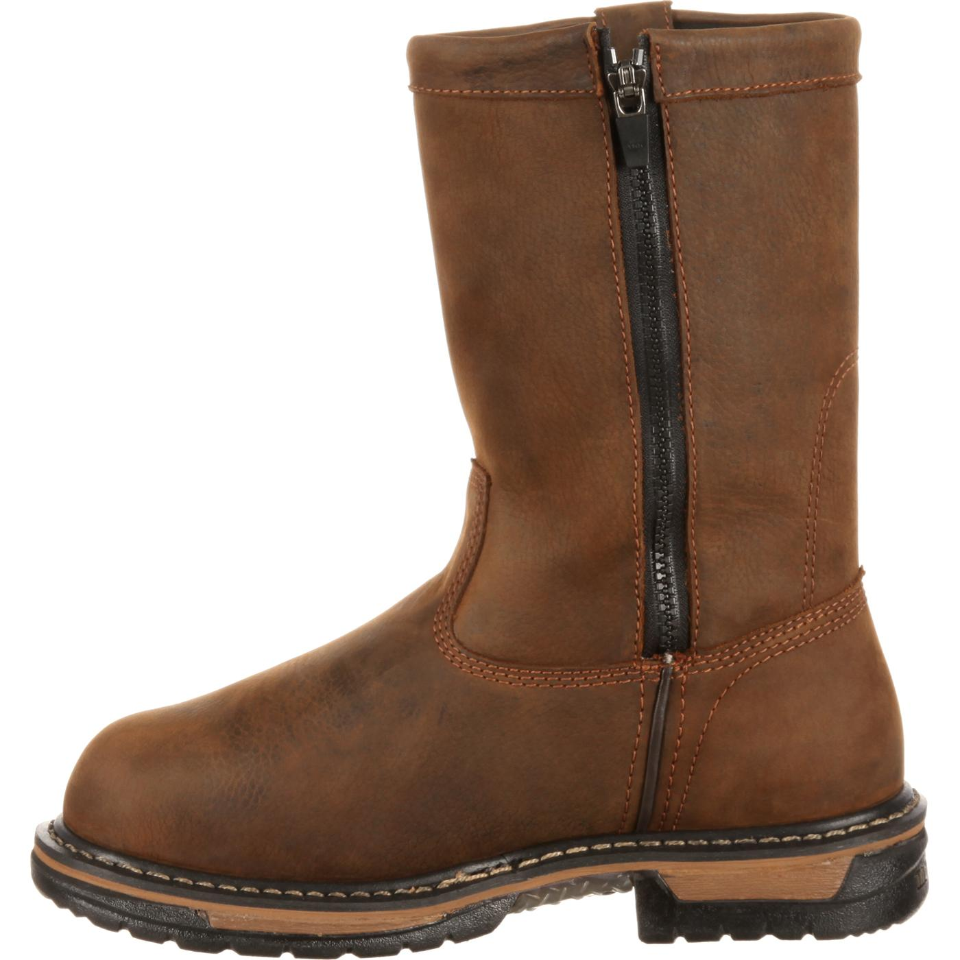 Rocky IronClad: Men's Met Guard Steel Toe Pull-On Work Boot