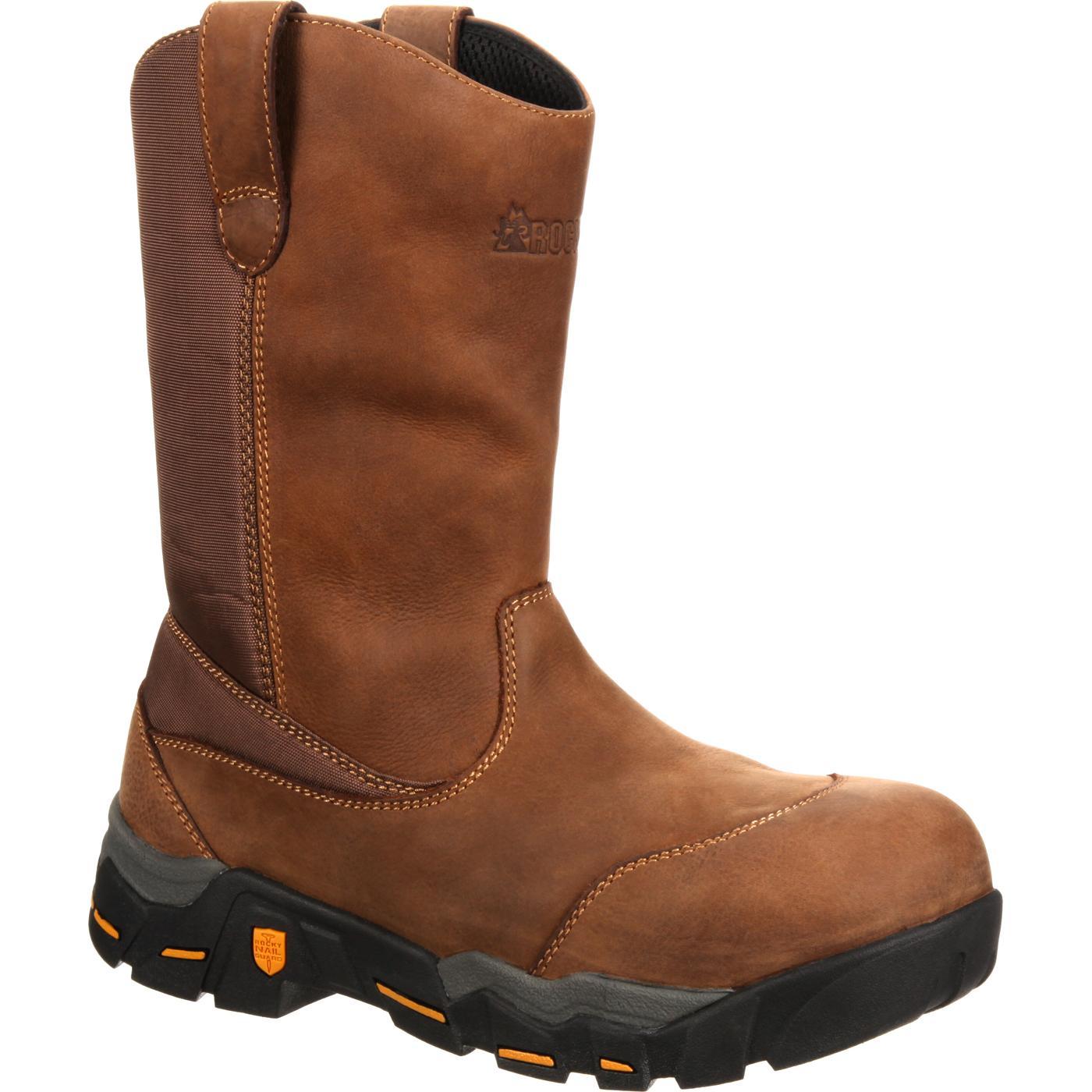 2017 Buy Rocky Mobilite 11 Western MediumWide Waterproof Boot Brown Leather