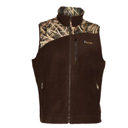 Rocky Full Zip Fleece Vest, Mossy Oak ShadowGrass Blades, large