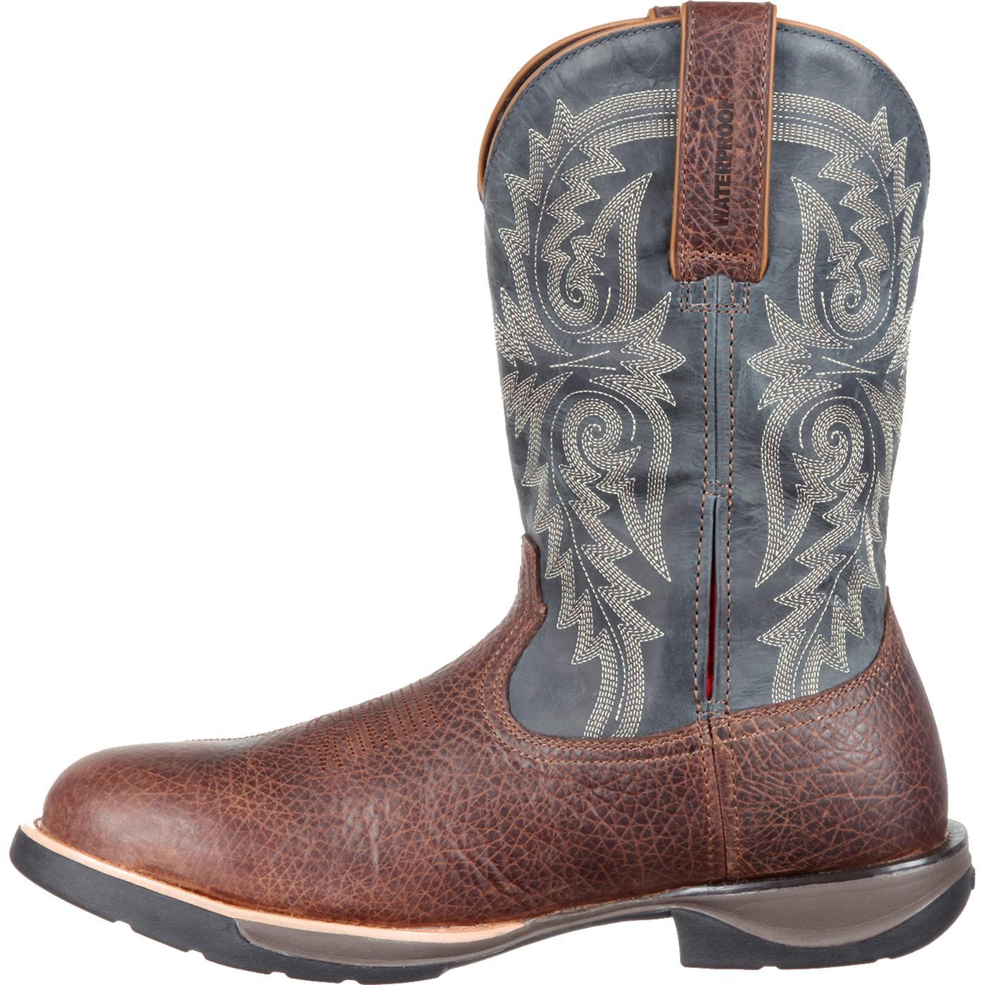 Rocky Lt Men S Comfortable Lightweight Blue Western Boot