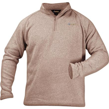 Rocky Casual Lifestyle 1/4 Zip Sweater Fleece, KHAKI, large
