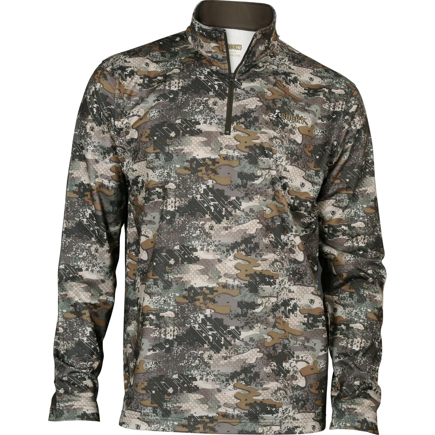 Rocky Venator Camo Men S Fleece 1 4 Zip Shirt Hw00160