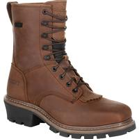 Rocky Square Toe Logger Waterproof Work Boot, , medium