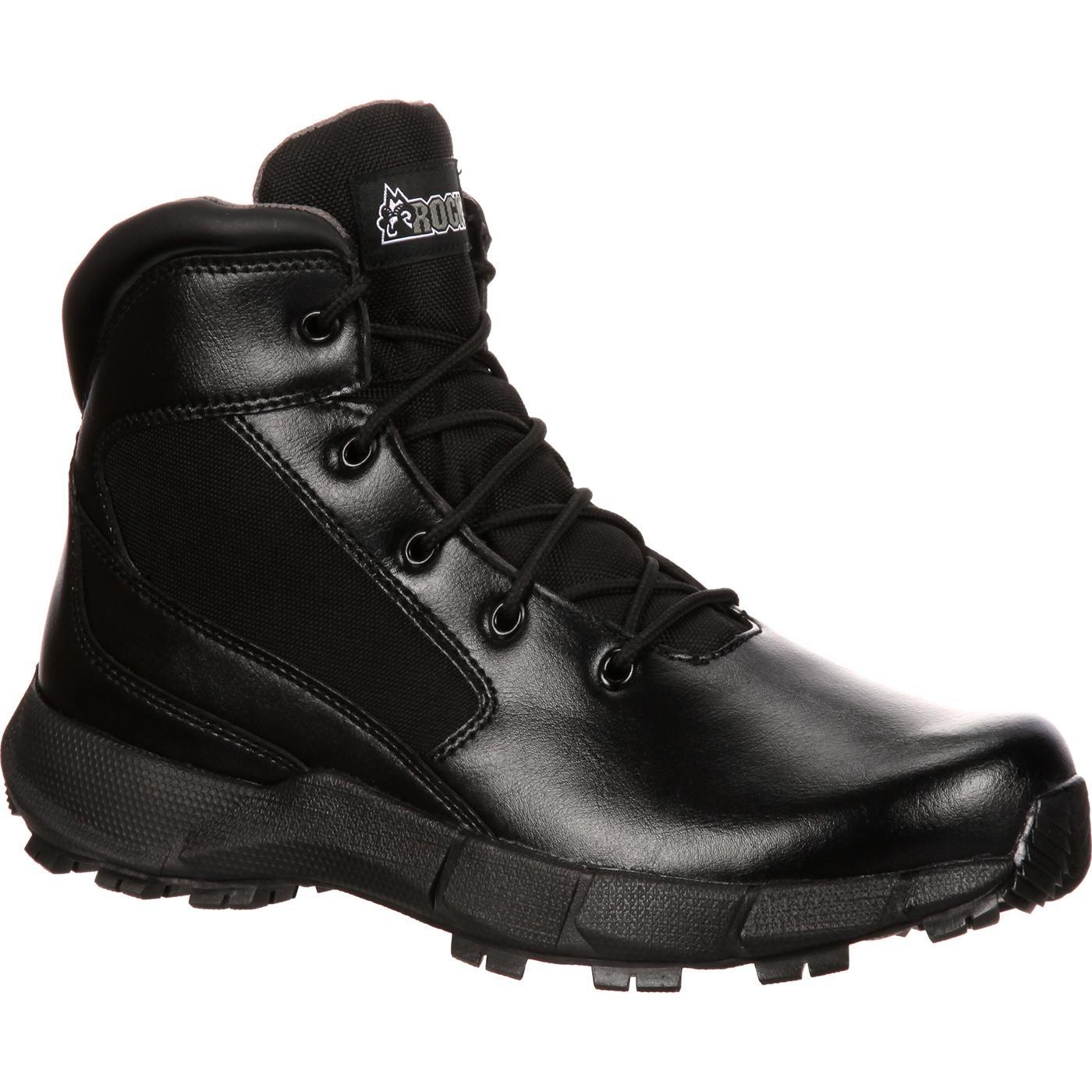 Rocky Broadhead Men S Polishable Black Duty Boot Rkyd013