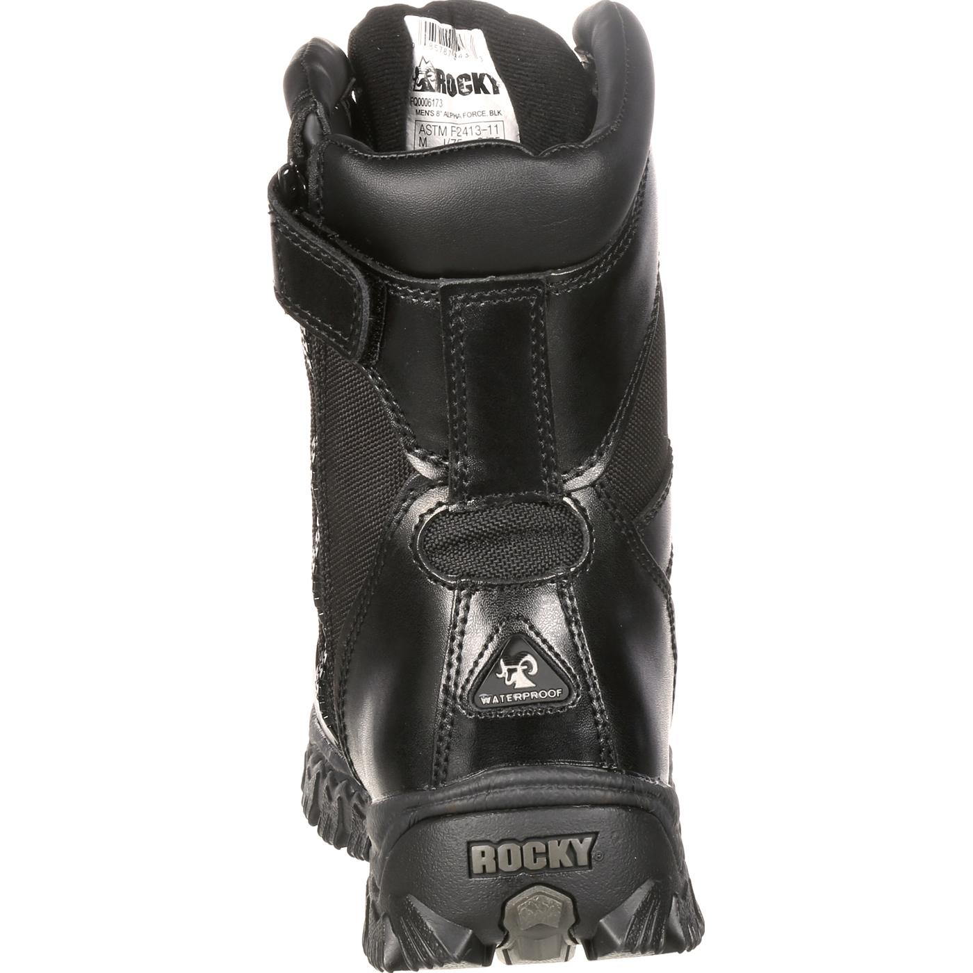 072e5a7b8a8 Rocky AlphaForce Zipper Composite Toe Public Service Boot