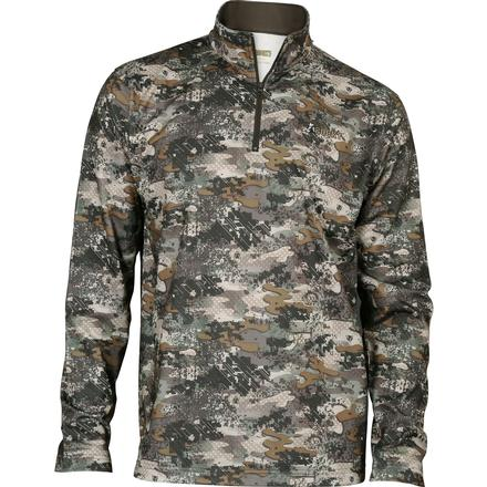 Rocky Camo Fleece Zip Shirt, Rocky Venator Camo, large