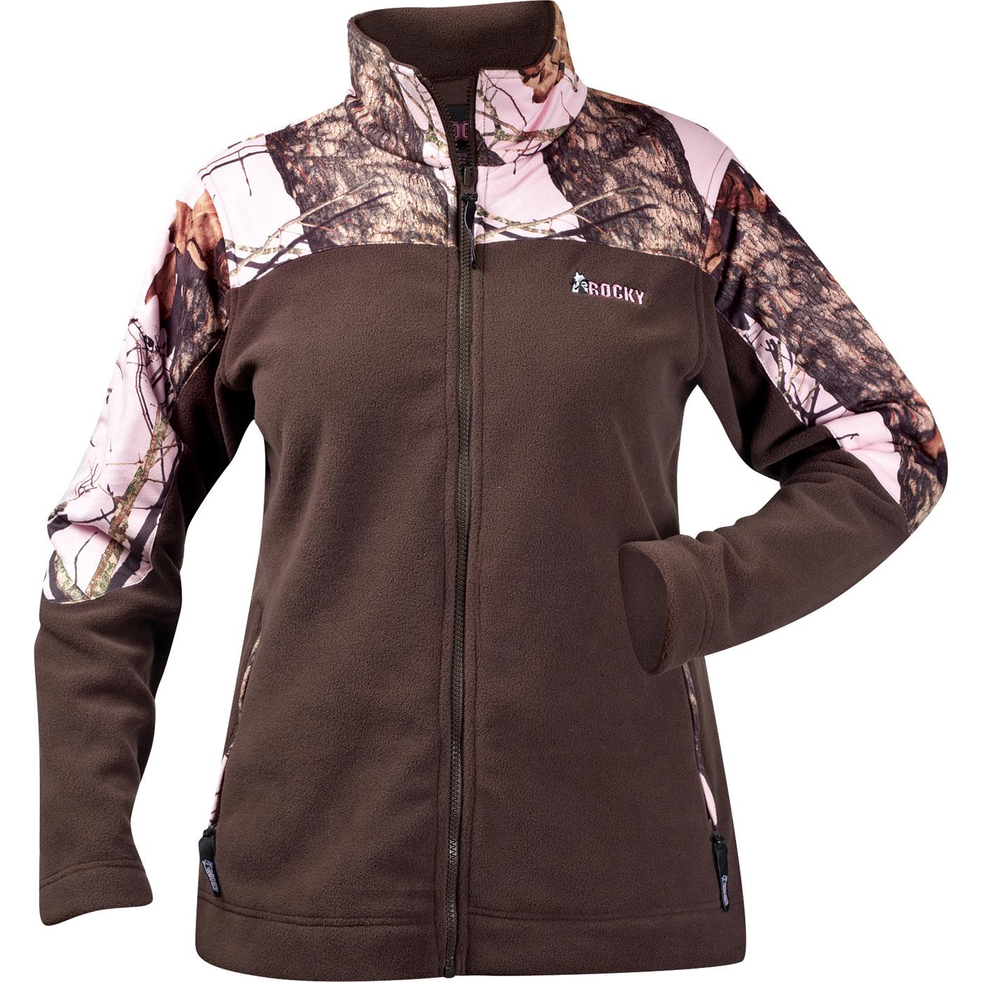 d9505f922d70d Rocky Apparel: Women's SilentHunter Camouflage Fleece Jacket - Style ...