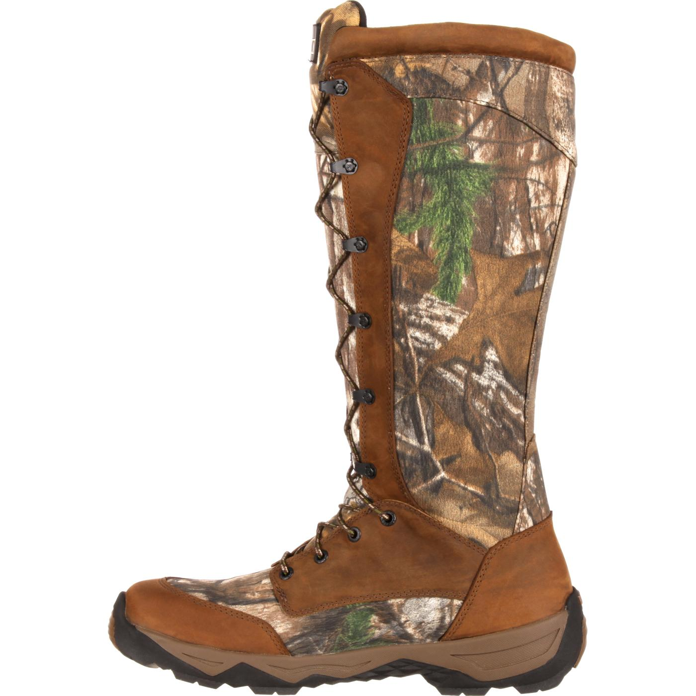 Rocky Retraction Waterproof Realtree Lace Up Snake Boot