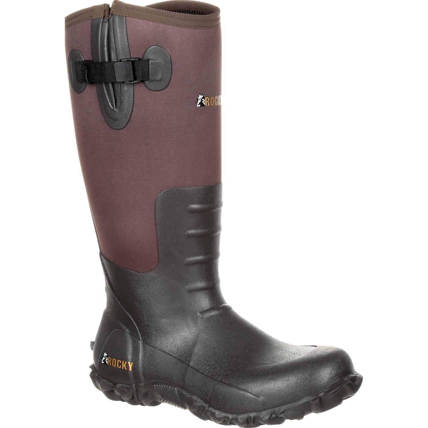 Rocky Core Brown Rubber Waterproof Outdoor Boot, , large