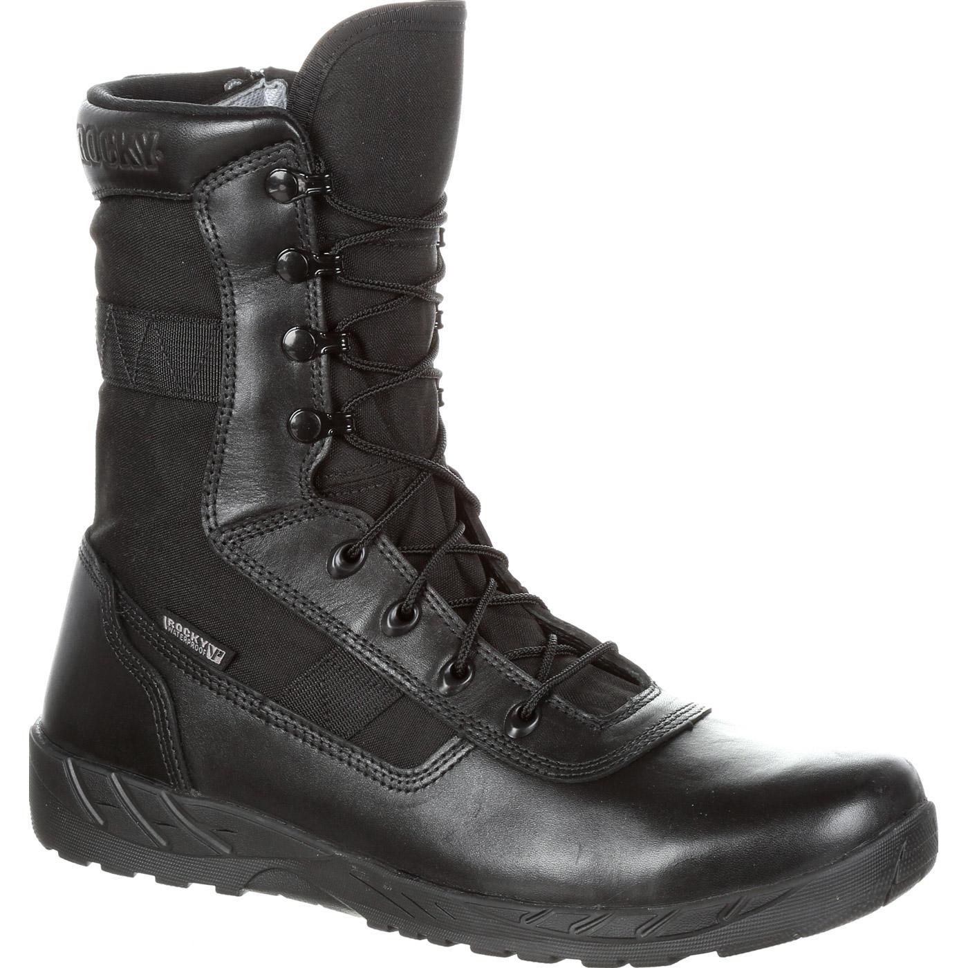 Rocky C7 Zipper Waterproof Black Duty Boots, RKD0036