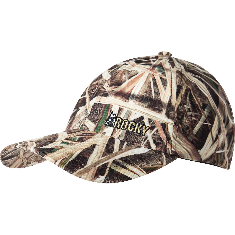 Rocky Waterfowl  Mossy Oak Camo Long Bill Cap f67d0312402