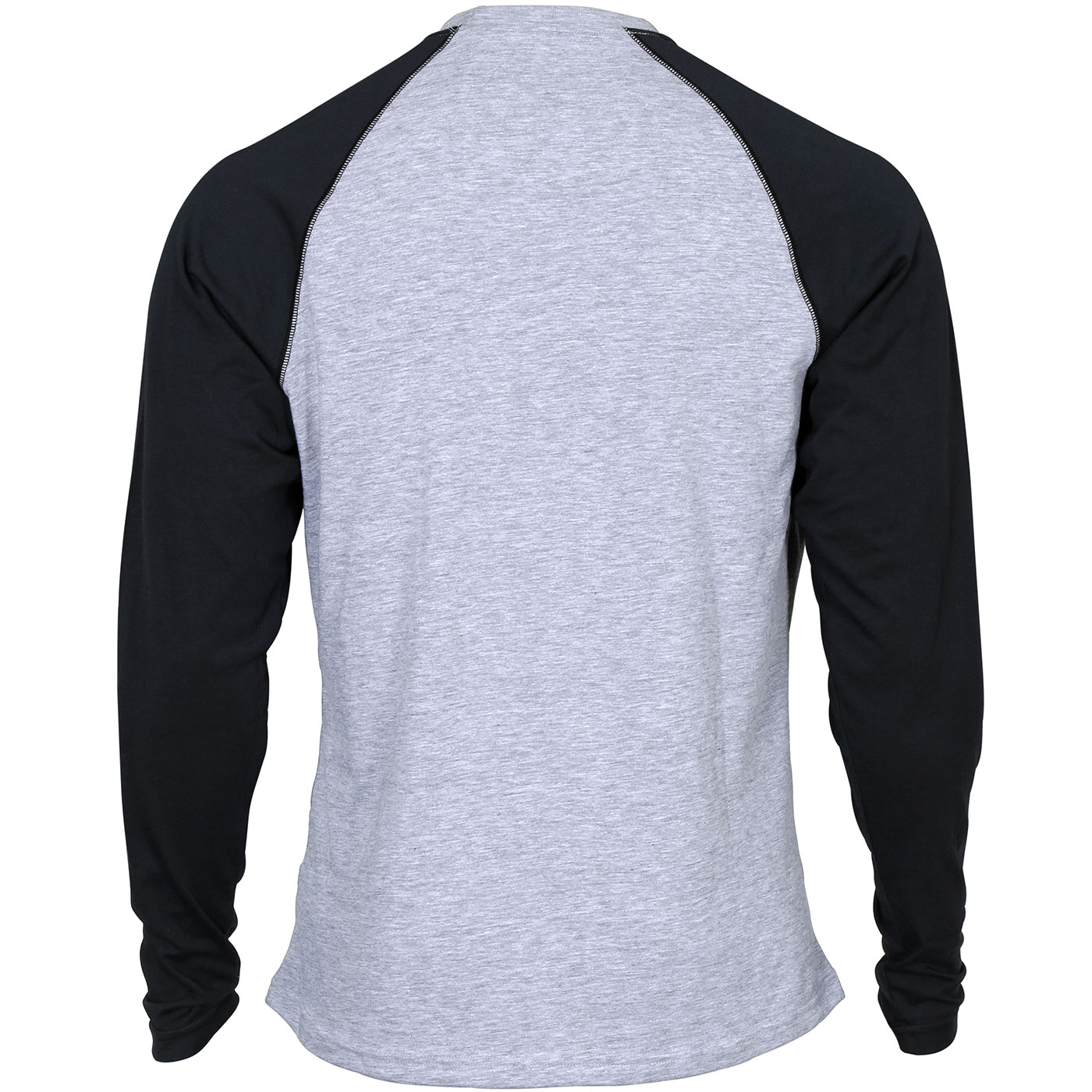 21f831647dc Rocky: Men's Logo Long-Sleeve Gray and Black Raglan T-Shirt