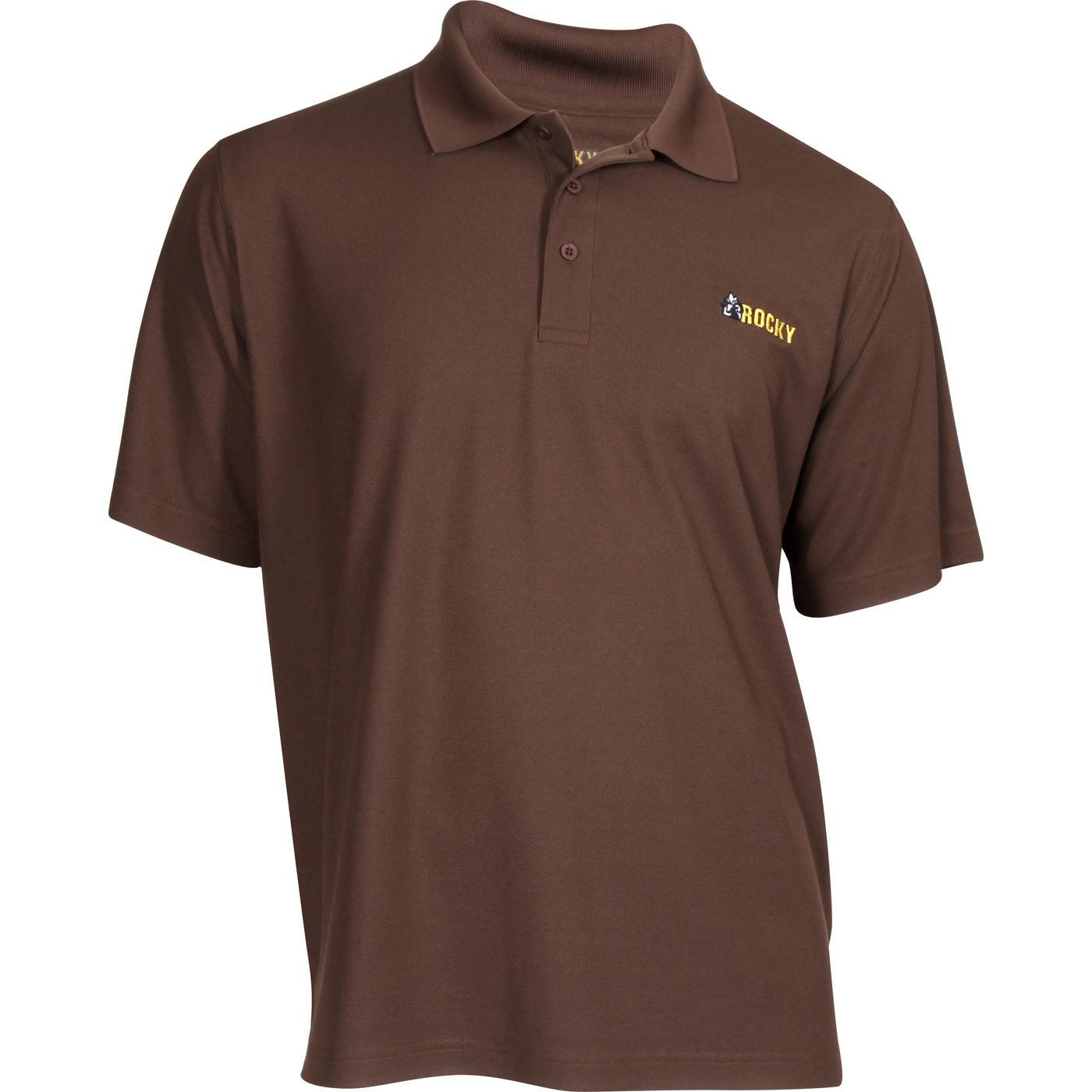 Rocky Brands Logo Short-Sleeve Polo Shirt d8d4b76f93b4e